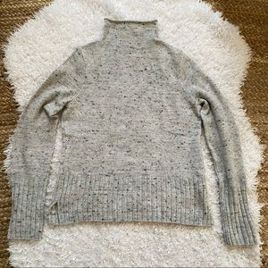 MADEWELL Grey Marled Mock Neck Sweater